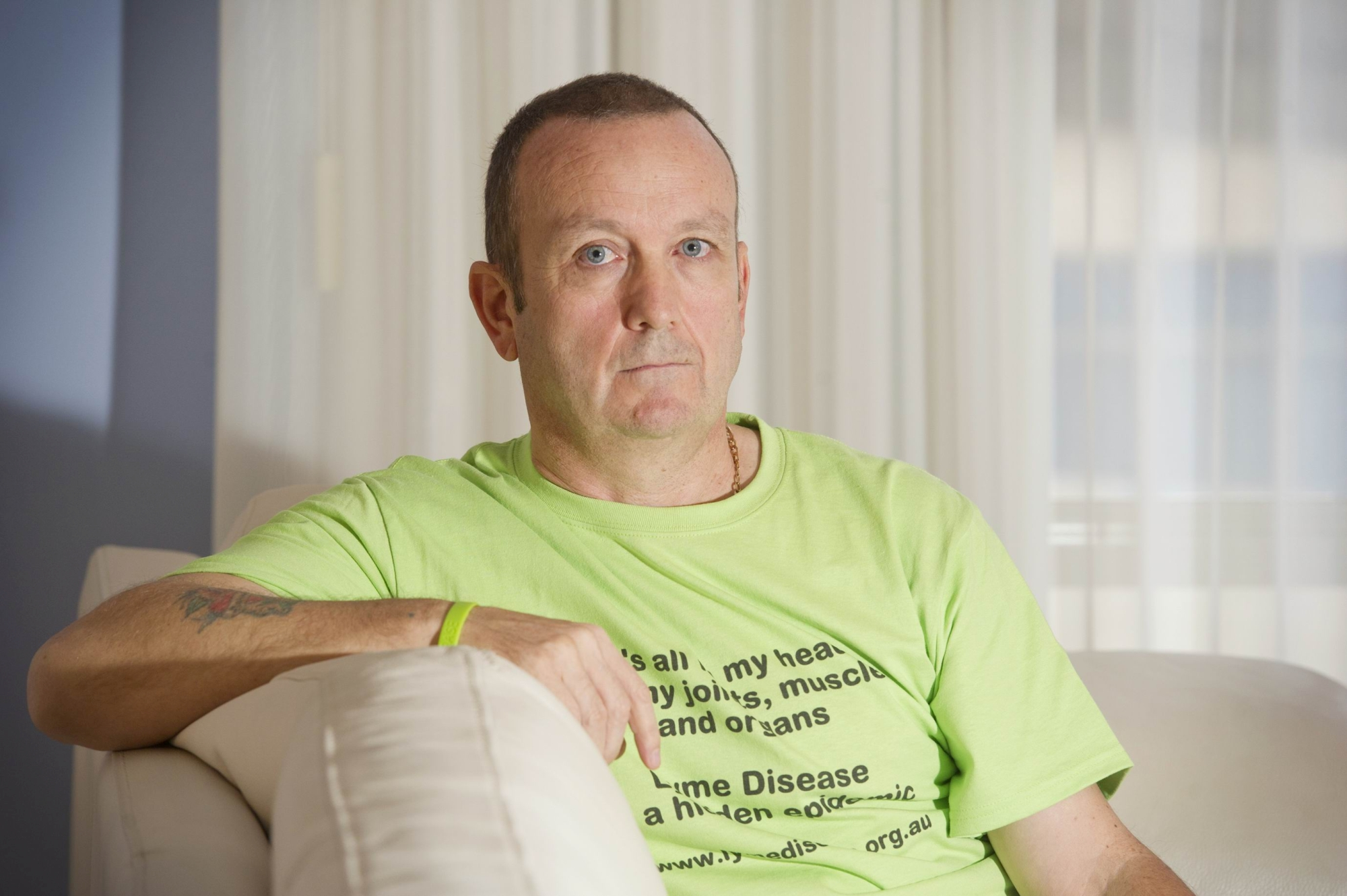 Bob Cooper has Lyme disease and wants to raise awareness.|Picture: Emma Reeves www.communitypix.com.au d419775