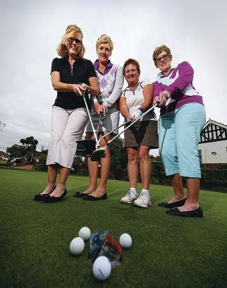 Margaret Gloster, Jane Ellis, Glenda Anderson and Irene Street. Picture: Andrew Ritchie www.communitypix. com.au d419489