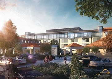 An artist's impression of how the new paediatric ward will look on top of the hospital.Picture: Silver Thomas Hanley