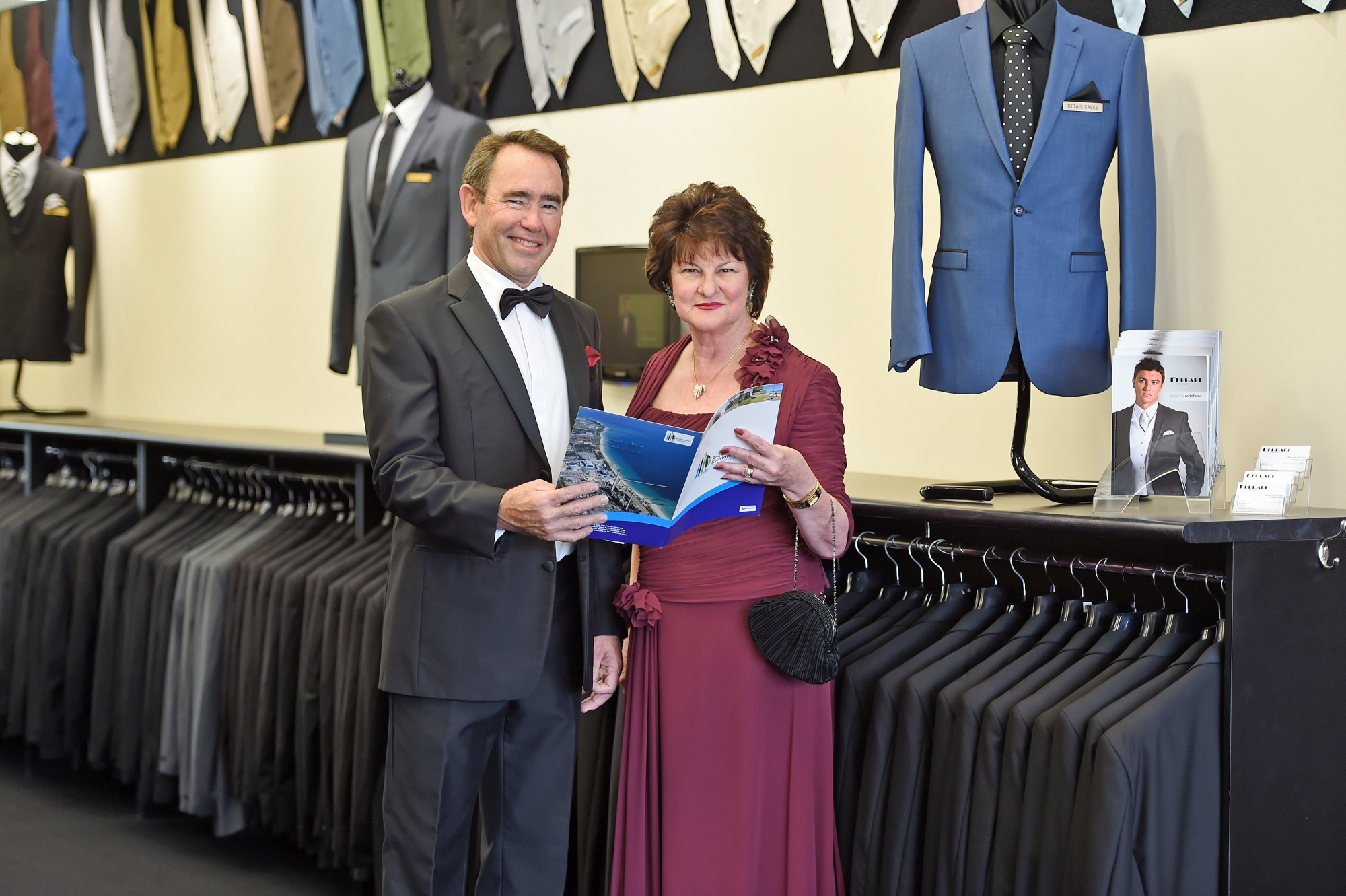Chief executive of the Rockingham Kwinana Chamber of Commerce Tony Solin with chairwoman of judges for the awards Dale Kerferd. Picture: Jon Hewson d419779