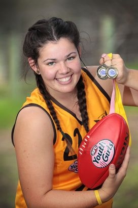 Leading goalkicker Asha Price. Picture: Marcelo Palacios www.communitypix.com.au d419873