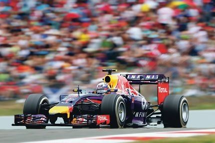 Daniel Ricciardo in action during the Spanish Grand Prix, in which he finished third.