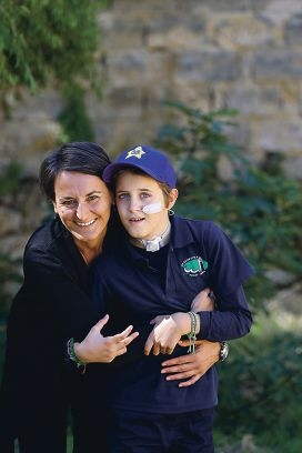Gloria Toniatti shares a loving hug with son Rocco Turazza. Picture: Martin Kennealey www.communitypix.com.au d419150
