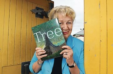 Children's Literature Centre founder and West Australian of the Year nominee Lesley Reece with Tree, a children's book by Danny Parker about the cycle of life and death. Picture: Elle Borgward www.communitypix.com.au d419415