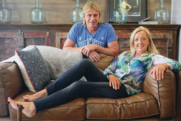 Carole and Russell Bramston at their Boya home after the 2014 House Rules renovation. Picture: Bruce Hunt d419444