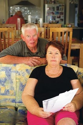 Mike and Sue Smith are concerned about the future of their disabled son's care in Girrawheen. Picture: Emma Reeves
