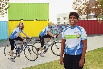 Tanya Jackson, Kim Clarke and Lana Gonsalves will ride their bikes to support and raise the profile of