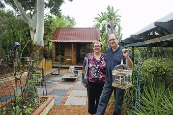 Lisa and Paul Petale are mosaic artists and have been chosen to be a part of Open Gardens Australia. Picture: Emma Reeves www.communitypix.com.au d419498