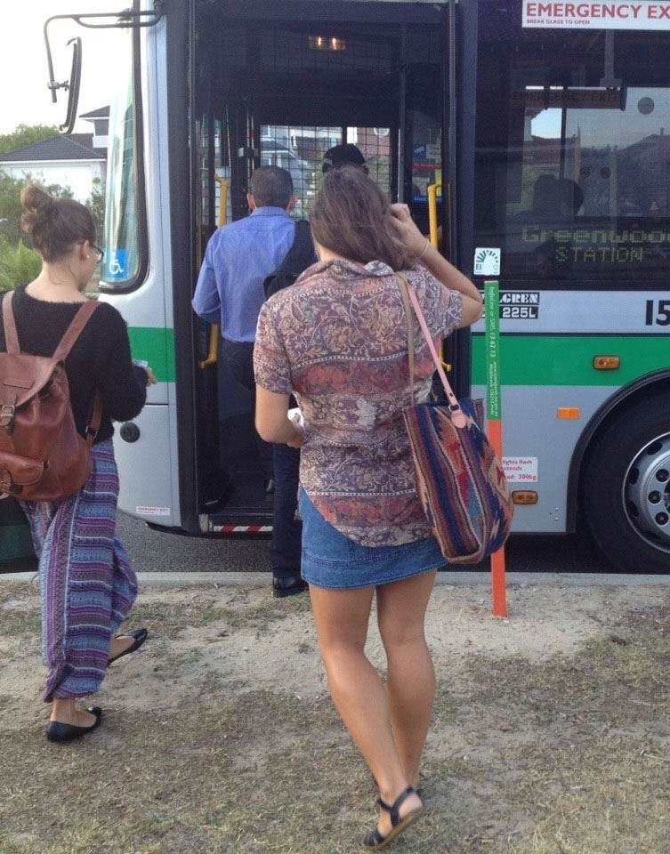 Passengers boarding the 456 bus to Greenwood station.