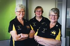Partners of Veterans Association's Jude Firth, Kerryn McDonnell and Sandra Cross. Picture: Andrew Ritchie d419273