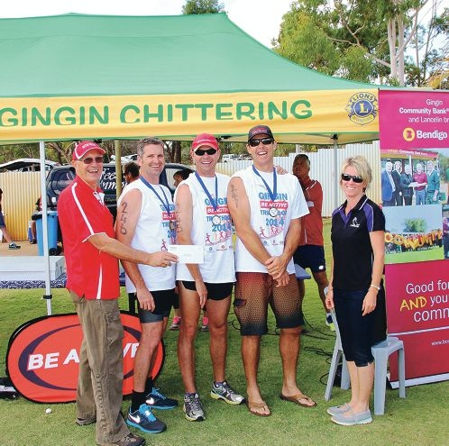 Gingin's Michael Aspinall with winners Tim Shervington, Jannie Baard, Brendon Fewster and Chittering's Michelle Rossouw.