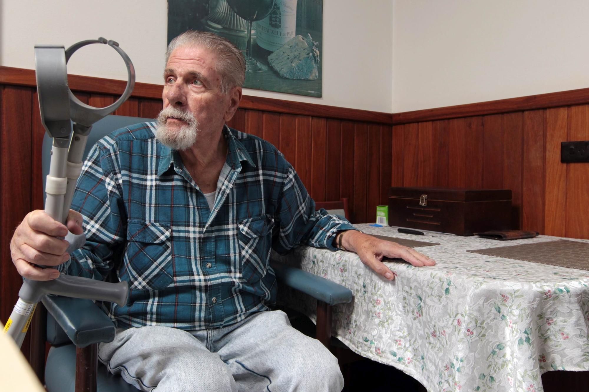 Lindsay Rowe (80) from Armadale has had his house broken into 4 times in a week.