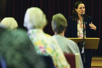 Police Minister Liza Harvey addresses a Council on the Ageing crime prevention seminar