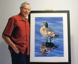 Graham Dowley with Shelduck, one of his entries in the exhibition.