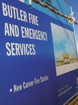 A new career fire station is under construction in Butler.