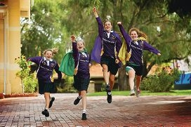 PLC students Jess Newland, Mia Simpson, Shelby Evans and Rachel Gardner will be |taking part in the Relay for Life this weekend. Picture: Andrew Ritchie d418238