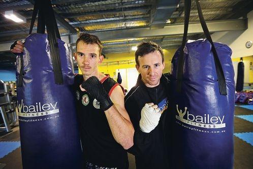 Muay Thai competitors Bryan Harris and Adam Bailey.