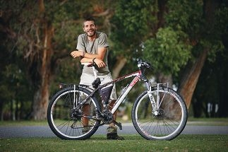 Marco Meini wants to ride his bicycle through 18 countries.