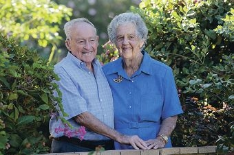 Gordon and Florence Hull have been married for 70 years.