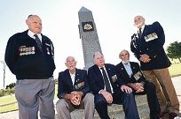 Veterans Steve Fleming, Rob Sweet, David King, Douglas Mann and Alex Lennox. Picture: Marcus Whisson d418376