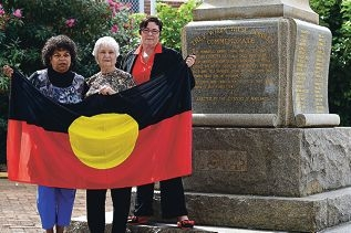 A new battlefront: Aboriginal woman and Maylands Residents and Ratepayers Association member Carol Foley, Maylands Historical and Peninsula Association member Pam Gaunt and Maylands MLA Lisa Baker want indigenous people who fought for