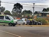 A recent car crash near Inglewood Pre- Primary School on Hamer Parade.