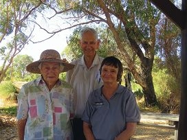 Beryl and Ron Smith with Wanneroo Regional Museum's community history librarian Carol Leigh.