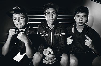 LtoR: Dahrel Duggan (13yrs, Balga), Bradley Abraham (14yrs, Balga), Dylan O'Sullivan (14yrs, Ballajura)