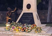 The Anzac Day dawn service at Central Park war memorial in Joondalup is expected to draw crowds.