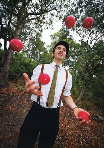 Circus performer Jeromy Zwick specialises in juggling clubs and balls.
