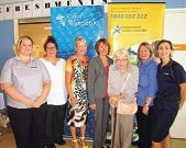 City of Wanneroo staff Claire Oats and Elenie |Kolitsis, Mayor Tracey Roberts, ILC representatives Gerri Clay, Freda Jacob and Jane Trigg, and Amy Blundells, from Satterley.