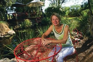 Celia Papworth is opening her garden on Sunday. Picture: Emma Reeves www.communitypix.com.au d417623