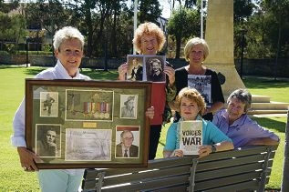 From left, standing: Karen Marshall, Jenni Werner and Liz McGilligan with (sitting, from left) Kerry Clements and Maxine Aitken.