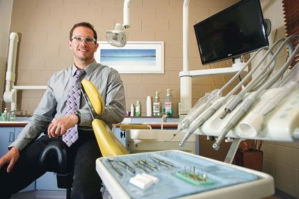 Dr Jonathan Barron in Gingin's new dental clinic, set to open next month.