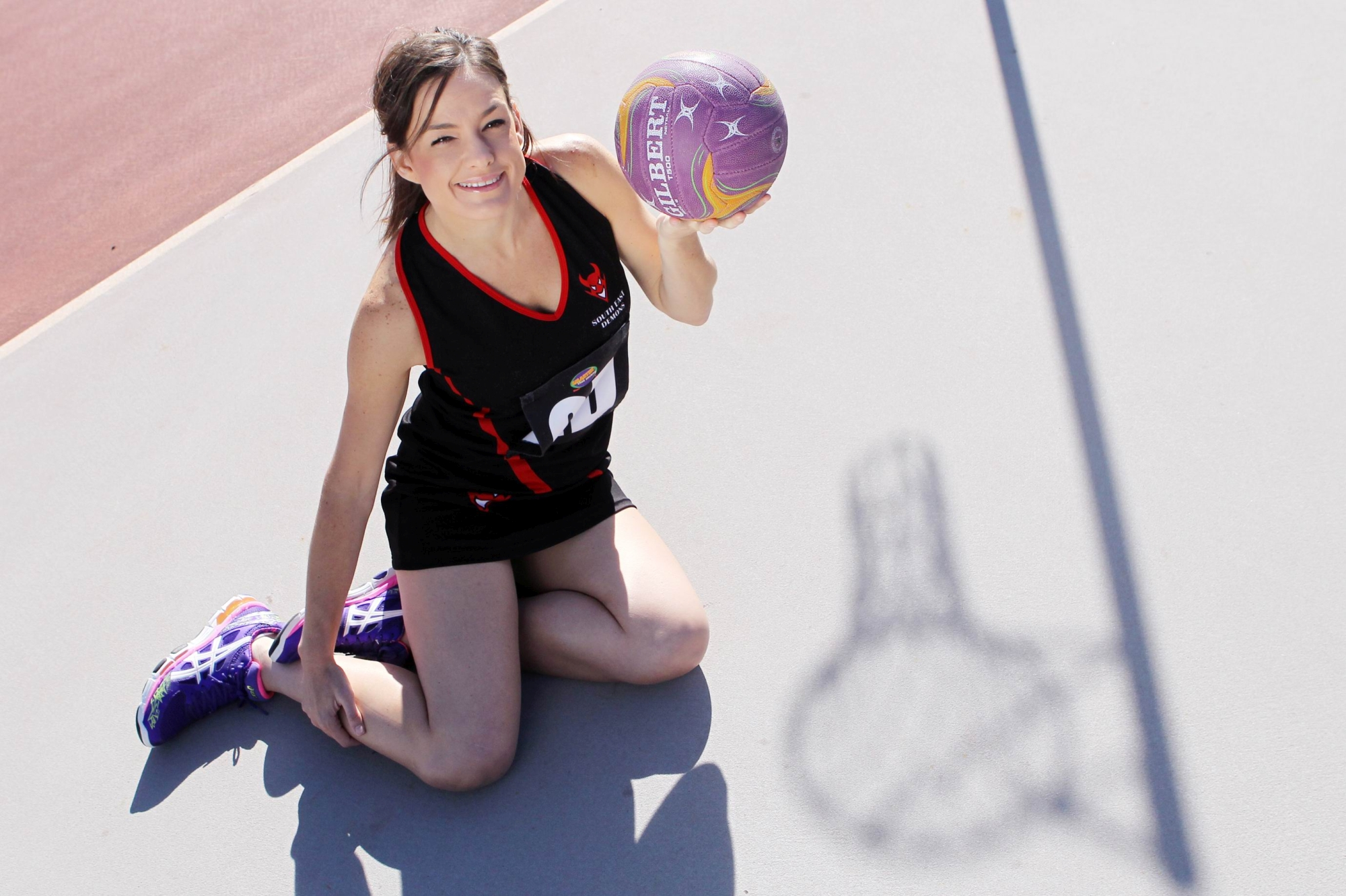 Netballer Danielle Mitchell recently marked her 250th game. Picture: Marcelo Palacios www.communitypix.com.au d417840