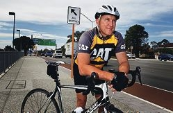 Belmont Bicycle User Group's Greg Wear near the new Great Eastern Highway bike paths. Picture: Elle Borgward d417905