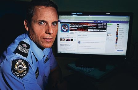 Peel Crime Prevention Unit Sergeant Paul Trimble is warning about the risk of posting false information about crime on social media sites such as Facebook. Picture: Elle Borgward d417758