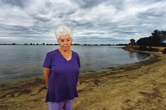 Resident Janet Levy fears that the boat ramp proposed for 'Boggy Bay' could lead to environmental and social problems. Picture: Jon Hewson d417380