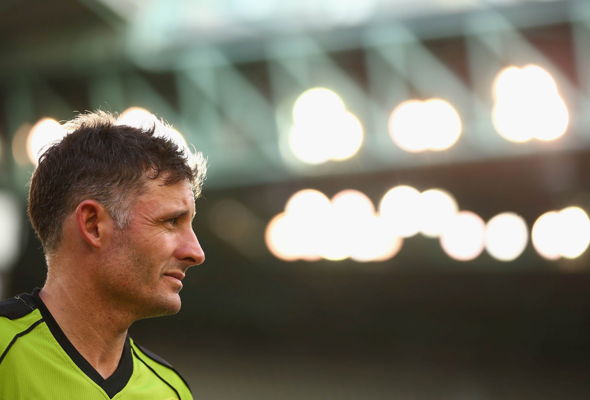 Mike Hussey during the recent Big Bash T20 season.