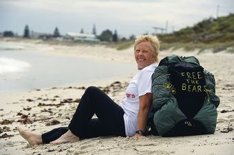 Veronica Hegarty is walking from North Beach to Bondi Beach to raise money to free bears. Picture: Emma Reeves www.communitypix.com.au d417430