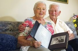 June and Lang Pope are celebrating their 60th wedding anniversary. Picture: Emma Reeves
