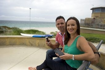 Paul and Melanie Holliday developed a new app which lets people know what's going on around the coast called 'ikoast'