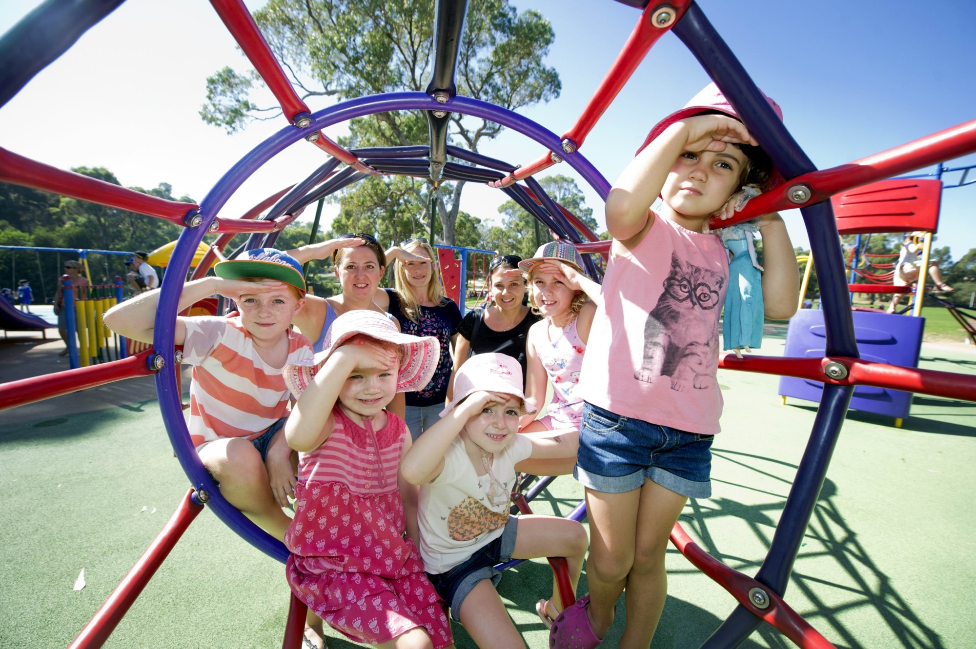 Helen Hopkins is leading a petition to have shade sails installed at Mawson Park. Picture: Emma Reeves www.communitypix.com.au d417948