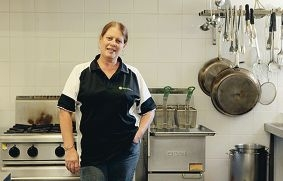 Stella Lindsay in the kitchen at St Patrick's Community Support Centre. Picture: Martin Kennealey d416750