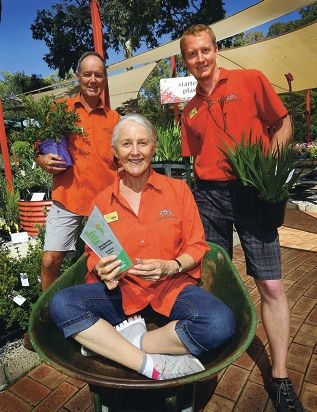 Alec, Jackie and Ross Hooper, of Zanthorrea Nursery, have won the award for Best Speciality Garden Centre. Picture: Matt Jelonek www.communitypix.com.au d417061