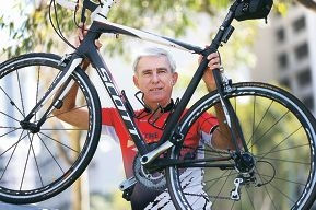 Joe Ostojich is taking part in a bike ride fundraiser to raise money for mental health services for youth. Picture: Andrew Ritchie d417069