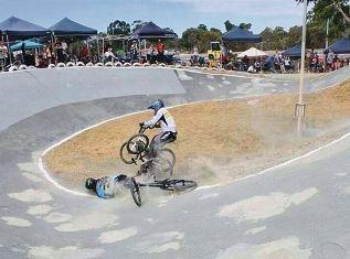 Crashes galore as BMX season starts