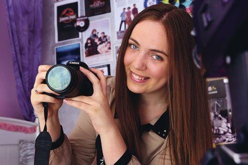 Aspiring filmmaker Jade Chamberlain. Picture: Marcelo Palacios d417073