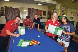 From Left: Liam Boyle, Mitchell Goode, Braydon Dryden (12 yrs), Tarn Reynolds, Elizabeth Harvey (13 yrs). City of Wanneroo have started a Youth survey, called YSpeak, to find out what facilities young residents would like to see