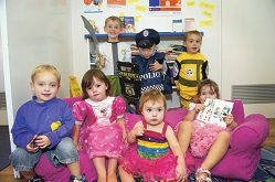 Front: Ryleigh Flook, Maddison Callander, Zoey Winter and Leila O'Reilly. Back: Jake Winter, Mason Payne and Marshal Winter.